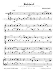 Josquin: Bicinium 1 for Flute & Alto Flute