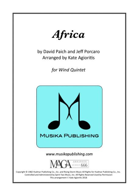 Africa - Toto - for Wind Quintet