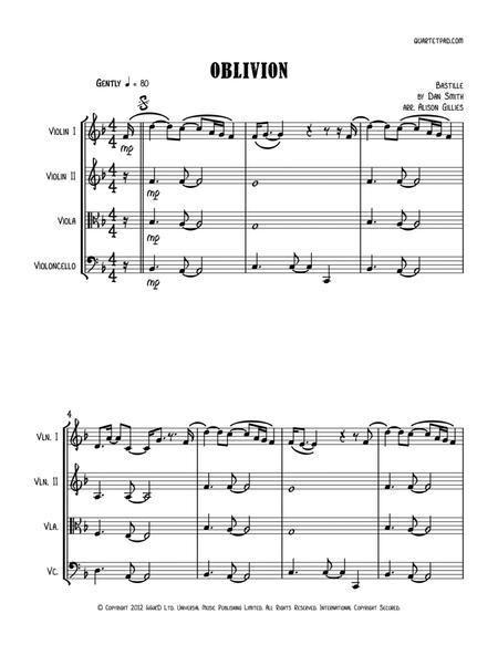 Oblivion (Bastille) - String Quartet