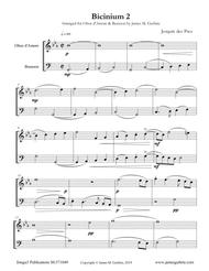 Josquin: Bicinium 2 for Oboe d'Amore & Bassoon