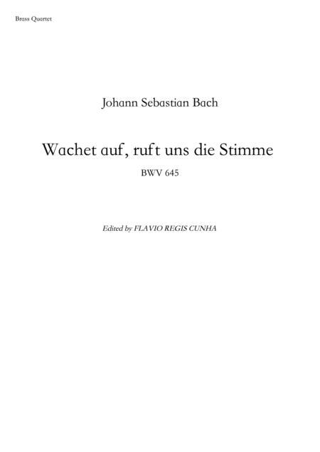 Wachet auf, ruft uns die Stimme - BWV 645 (for Brass Quartet)