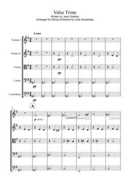 Sibelius: Valse Triste for String Orchestra - Score and Parts