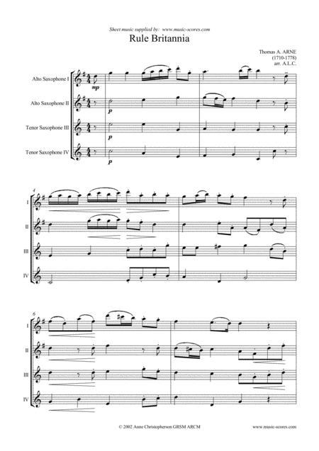 Rule Britannia - Saxophone Quartet
