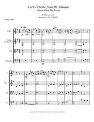 Lara's Theme from Dr. Zhivago (Somewhere My Love) - String Trio
