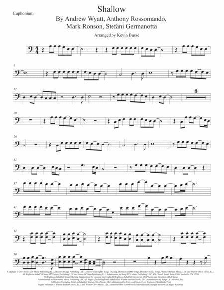 Shallow, Euphonium (Easy key of C)