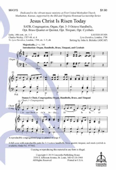 Jesus Christ Is Risen Today (Choral Score)