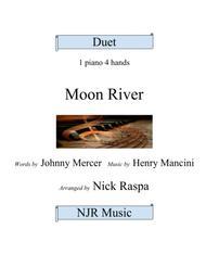 Moon River (1 piano 4 hands) advanced intermediate