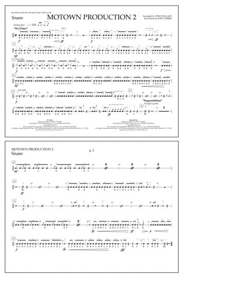 Motown Production 2 (arr. Tom Wallace) - Snare