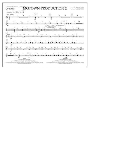 Motown Production 2 (arr. Tom Wallace) - Cymbals