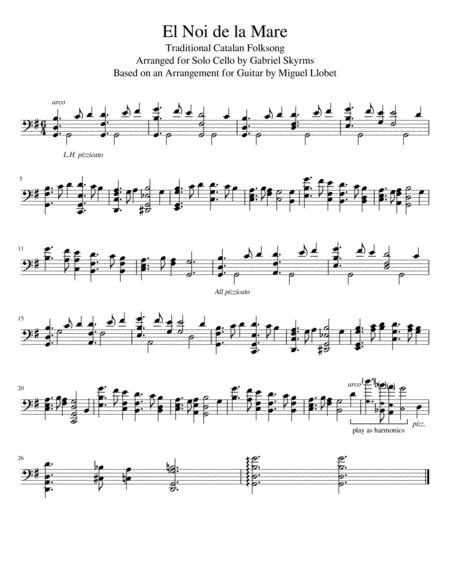 El Noi de la Mare - Solo Cello