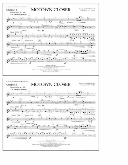 Motown Closer (arr. Tom Wallace) - Clarinet 1