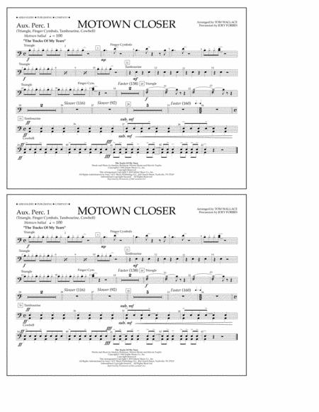 Motown Closer (arr. Tom Wallace) - Aux. Perc. 1