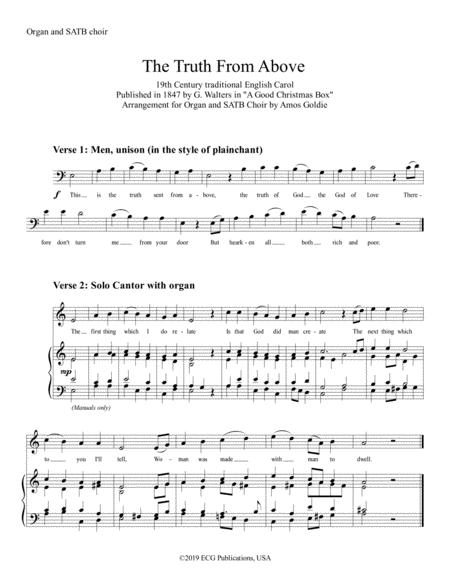The Truth From Above - SATB