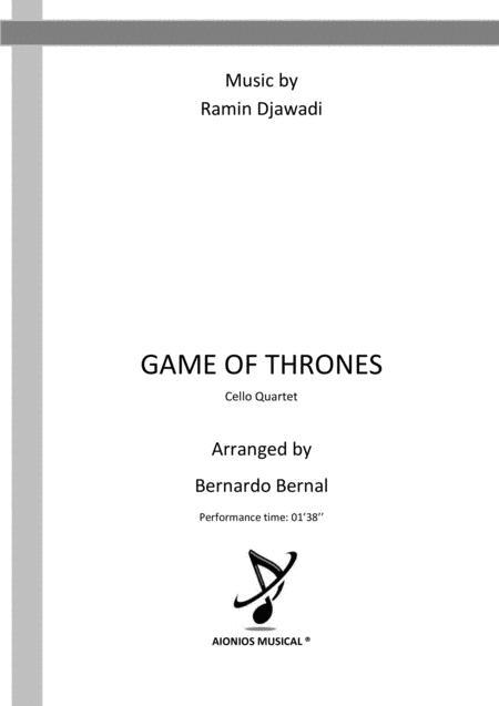 Game Of Thrones - Cello Quartet