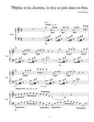 Orphée et les chemins le rêve se jette dans tes bras version piano pour partition orchestrée