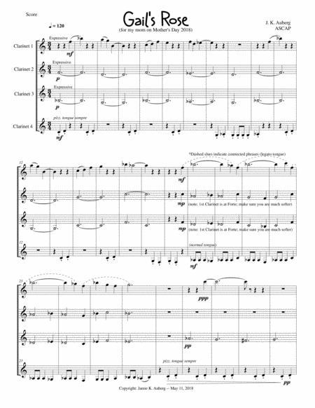 Gail's Rose (Clarinet Quartet)