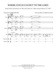 Where Could I Go TTBB Choral