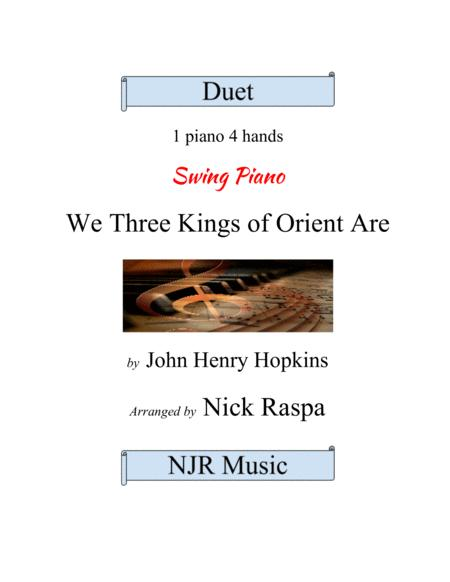 We Three Kings of Orient Are (1 piano 4 hands) advanced intermediate
