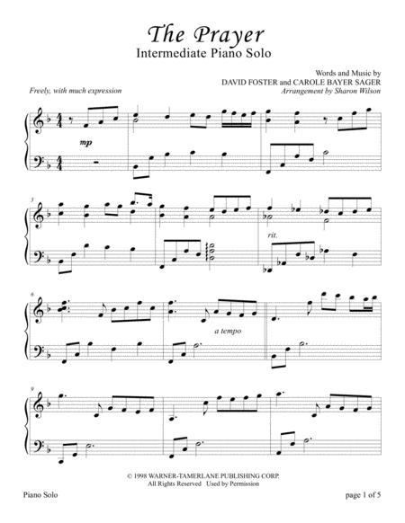 The Prayer (Sacred Piano Solo)