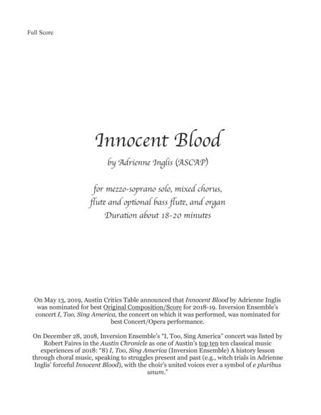 Innocent Blood for mezzo, chorus, flute, and organ