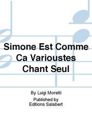 Simone Est Comme Ca Varioustes Chant Seul