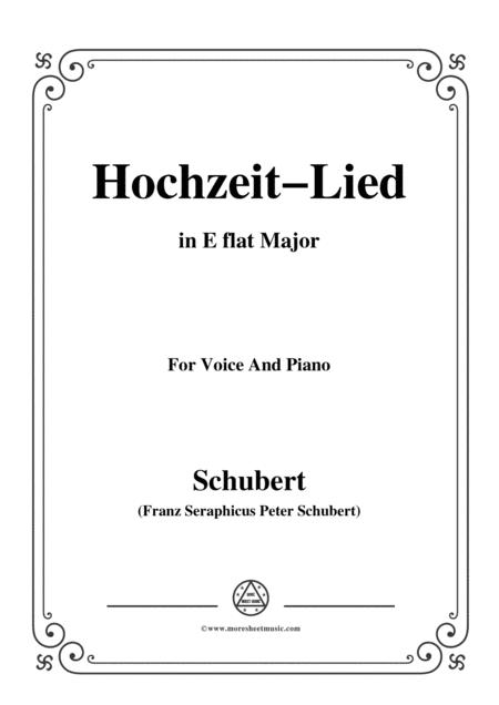 Schubert-Hochzeit-Lied,in E flat Major,for Voice&Piano