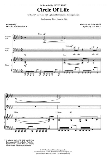 Circle Of Life (from The Lion King) (arr. Keith Christopher)