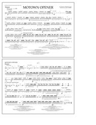 Motown Theme Show Opener (arr. Tom Wallace) - Snare
