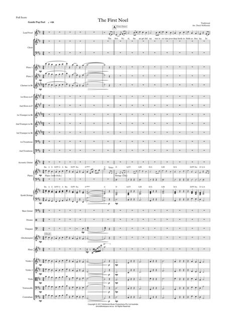 The First Noel - Vocal with Choir and Small Pops Orchestra - Key of D
