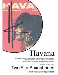 Havana - Two Alto Saxophones and Piano