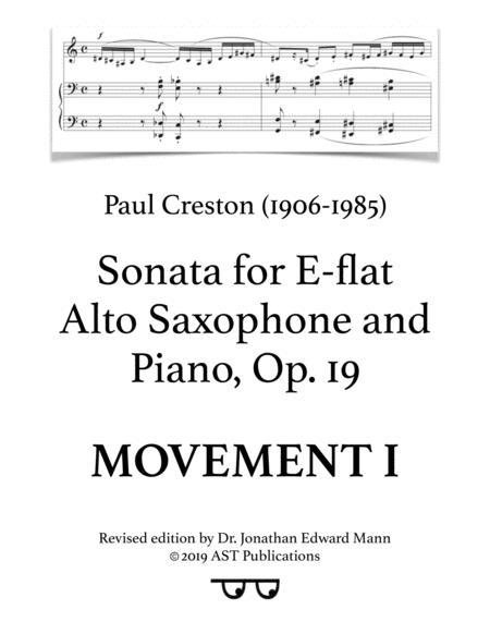 Saxophone Sonata, Op. 19 (Movement I)