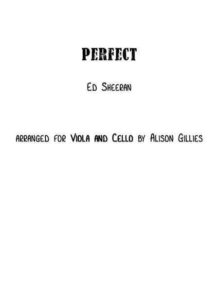 Perfect - Viola and Cello duet
