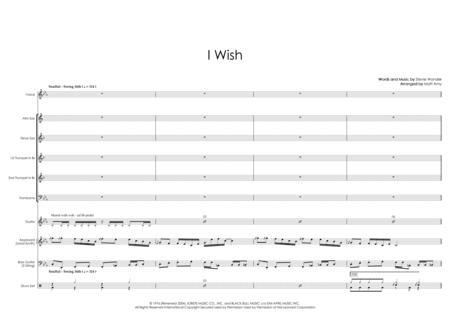 I Wish - 5 horns, rhythm section & vocals