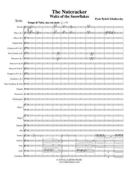 Waltz of the Snowflakes from The Nutcracker for Full Orchestra and Female Choir