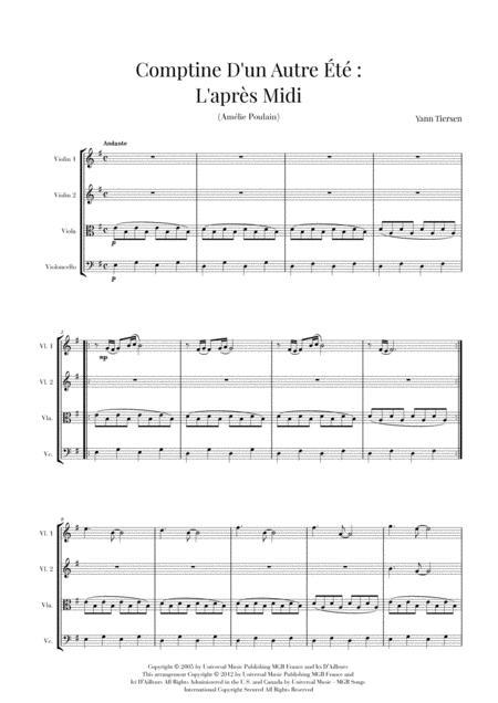 Download Comptine D'un Autre Été: L'après-midi (Yann Tiersen