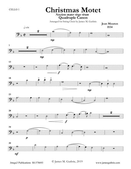 Mouton: Christmas Motet for String Choir