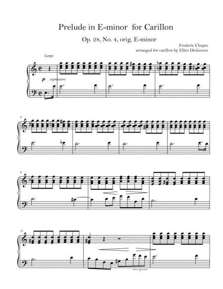 Prelude Op. 28 No. 4 for Carillon