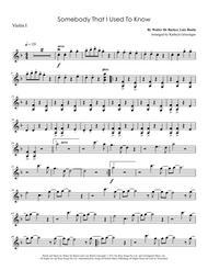 Somebody That I Used To Know - String Quartet