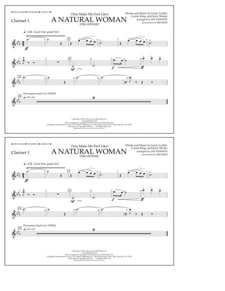 (You Make Me Feel Like) A Natural Woman (Pre-Opener) (arr. Jay Dawson) - Clarinet 1