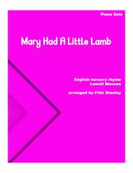 Mary Had A Little Lamb - Piano Solo