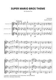 Download Super Mario Bros Theme For Clarinet Trio Sheet Music