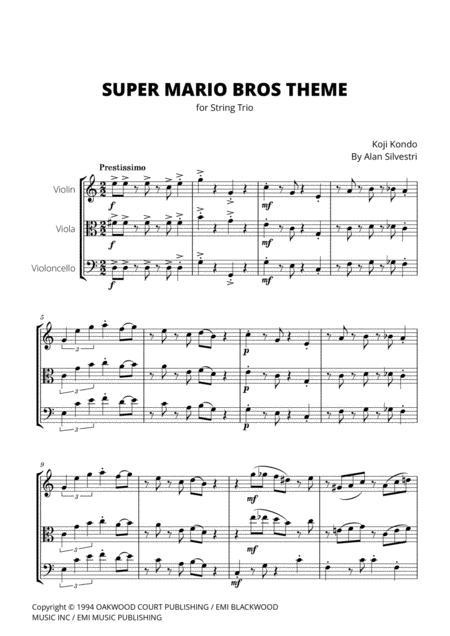 Super Mario Bros Theme for Violin, Viola and Cello (String Trio)