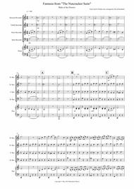 Waltz of the Flowers (Fantasia from Nutcracker) for Recorder Quartet