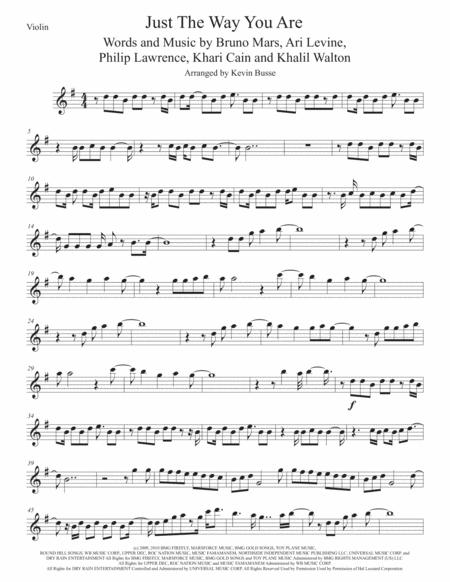 Just The Way You Are, Violin