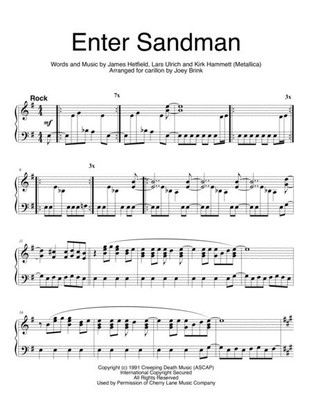 Enter Sandman, for carillon