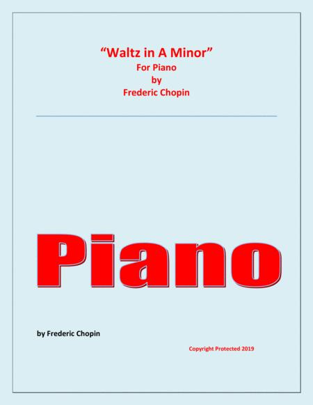 Waltz in A Minor (Chopin) - Piano - Chamber music