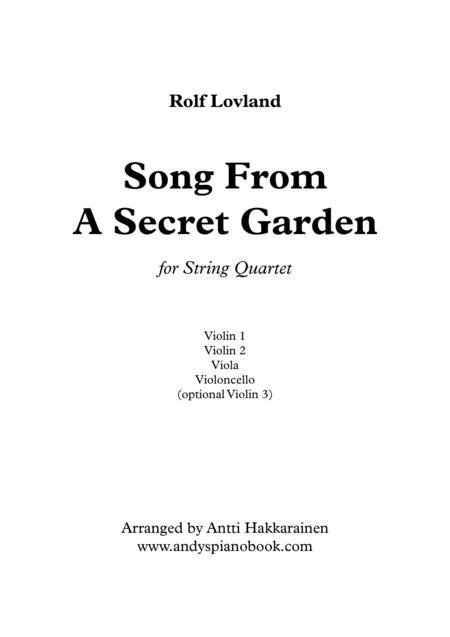 Song From A Secret Garden - String Quartet
