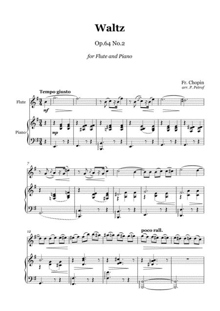Chopin Waltz Op 64 No 2 Flute And Piano By Fr Chopin Digital Sheet Music For Score Solo Part Download Print S0 580315 Sheet Music Plus