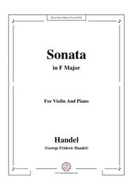 Handel-Violin Sonata in F Major,for Violin and Piano