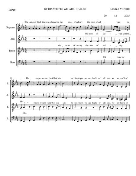 Download By His Stripes We Are Heal'd Sheet Music By Fanka